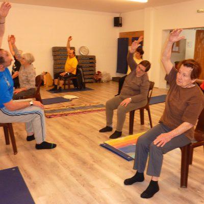 Philippe Duverger et ses élèves en pleine séance de gym senior